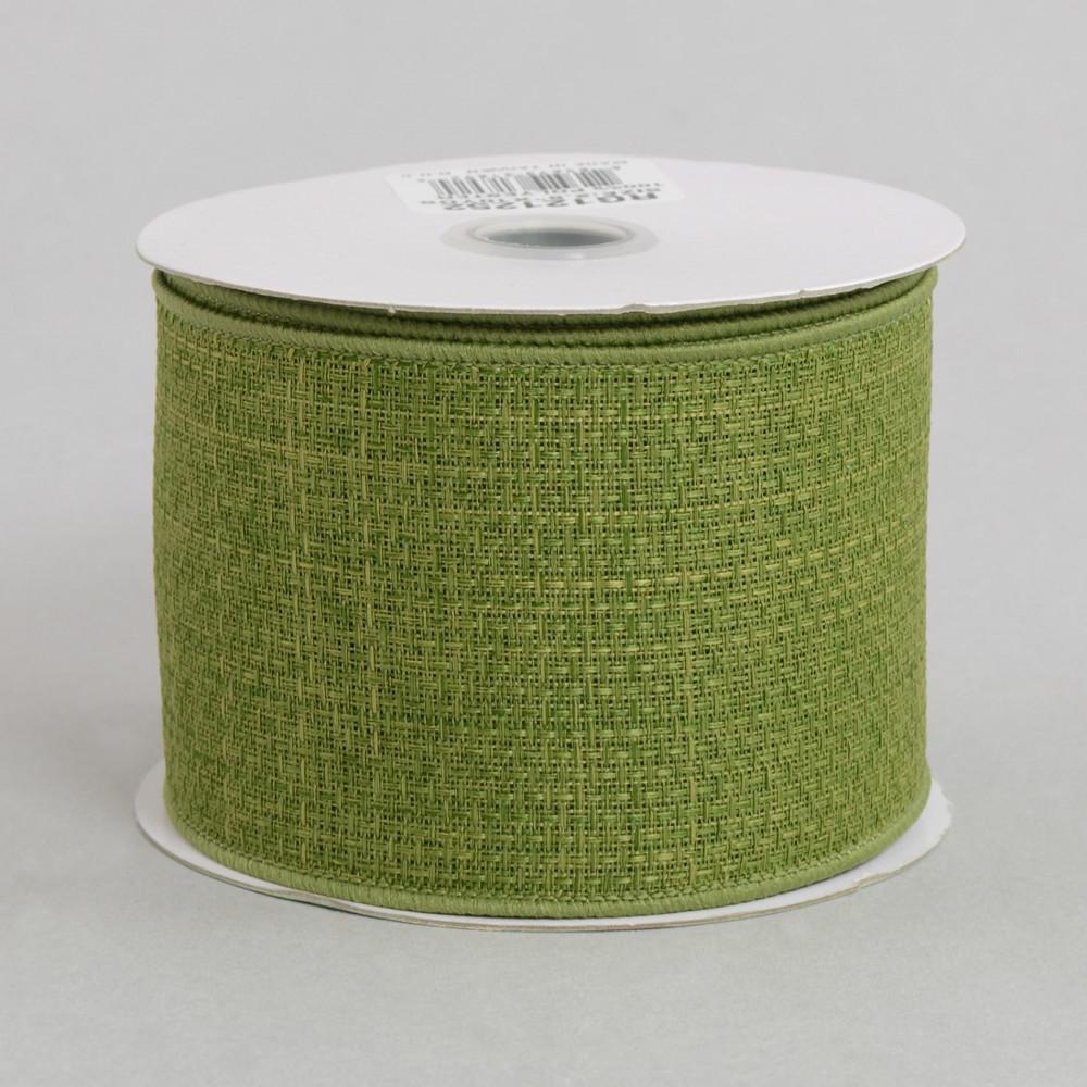 2 5 royal faux burlap ribbon moss green 10 yards for Green burlap ribbon