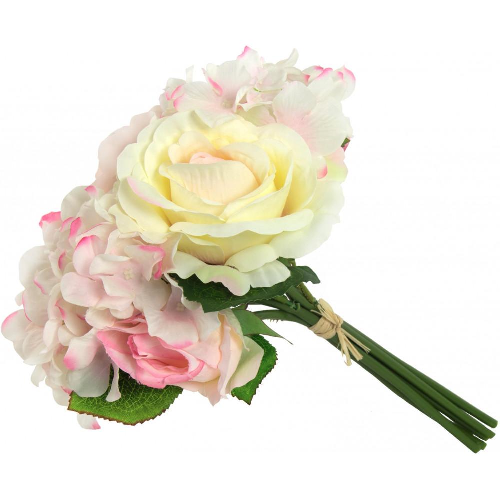 Quot hydrangea rose bouquet ivory pink pk