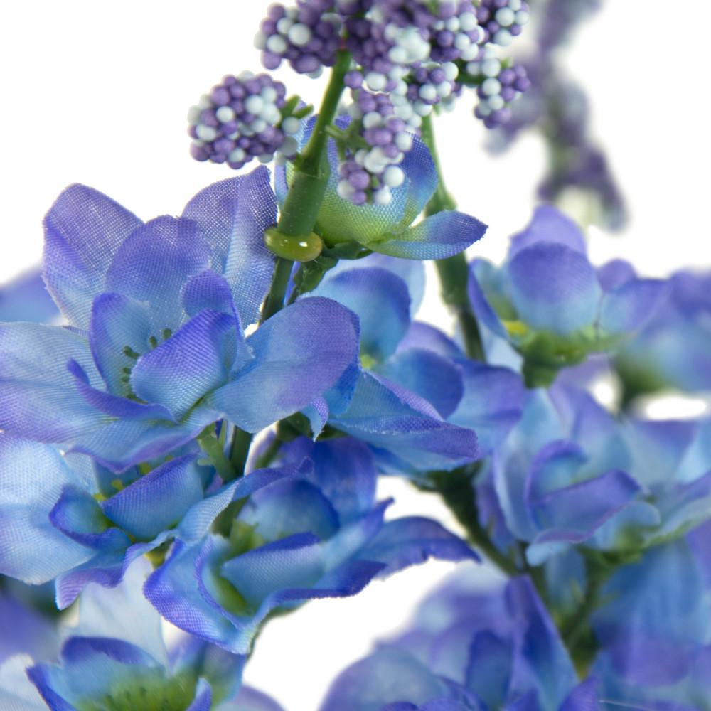 22 Blue Delphinium Bush 7 Stems 30432bl Craftoutlet