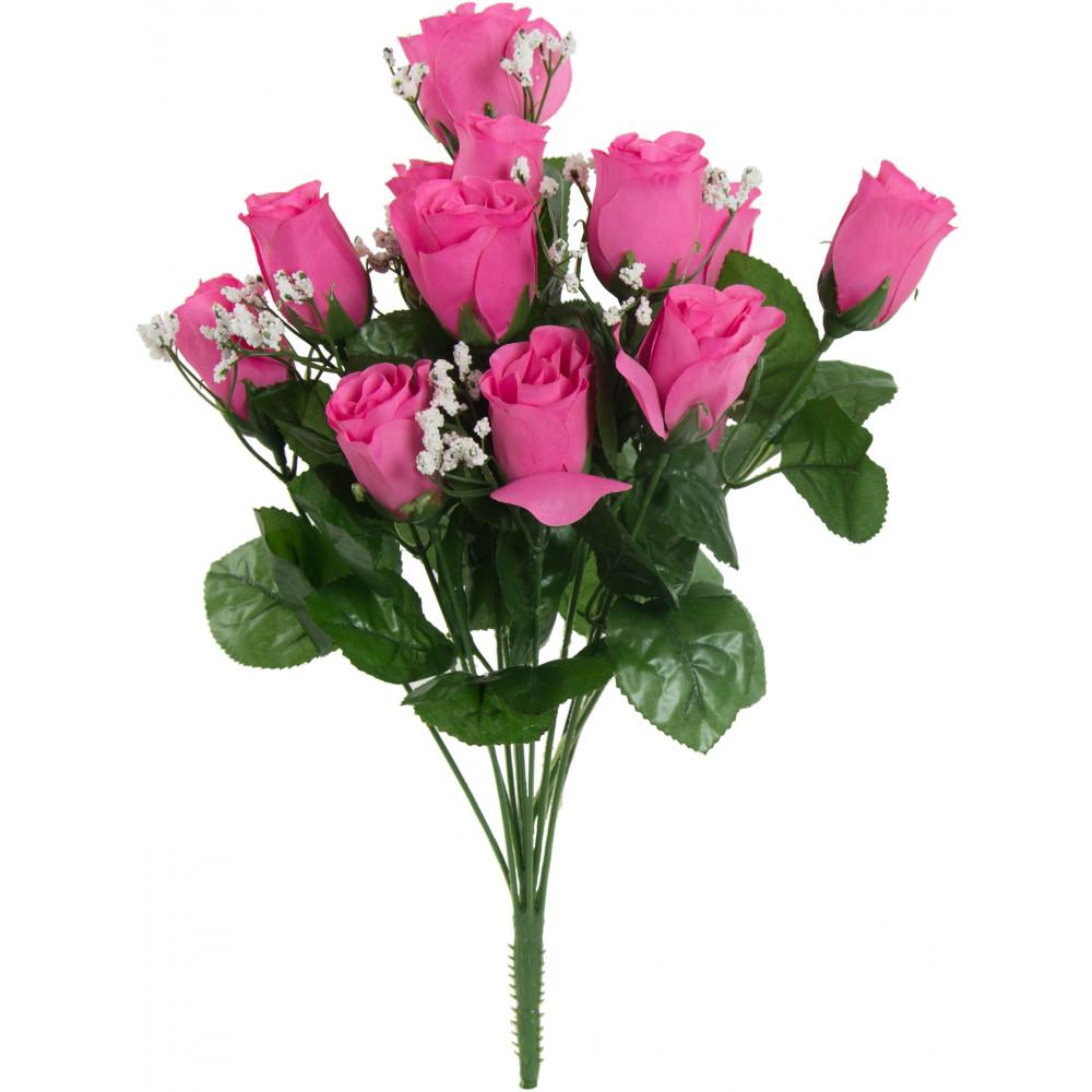 18 colorfast lillian rose bud bush pink 14 30308bt. Black Bedroom Furniture Sets. Home Design Ideas