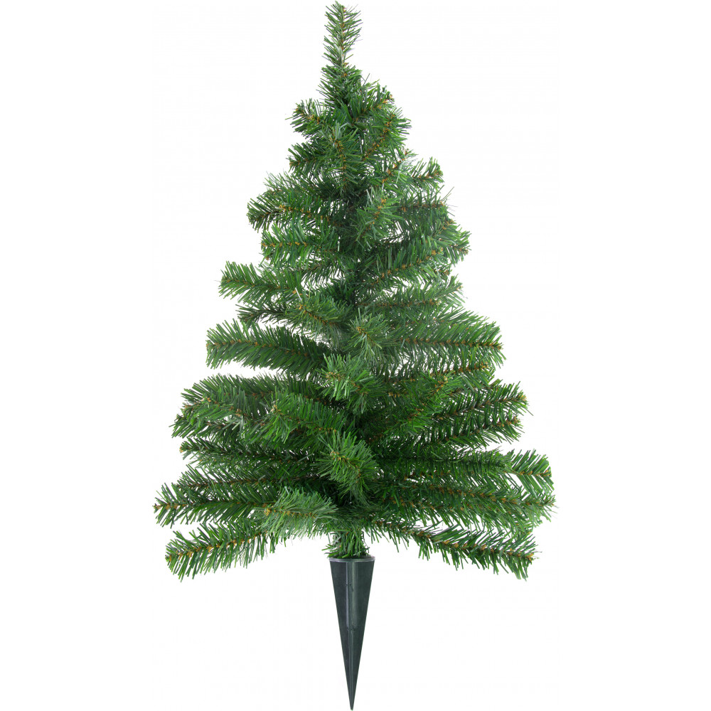 25 christmas tree on plastic stake - Small Metal Christmas Tree