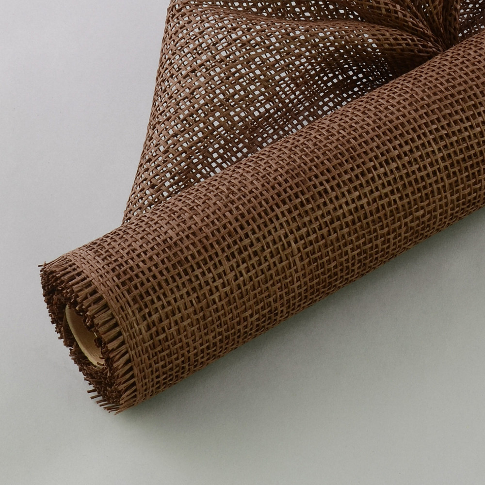 21 Quot Paper Burlap Mesh Chocolate Brown 5 Yards Pm413 77