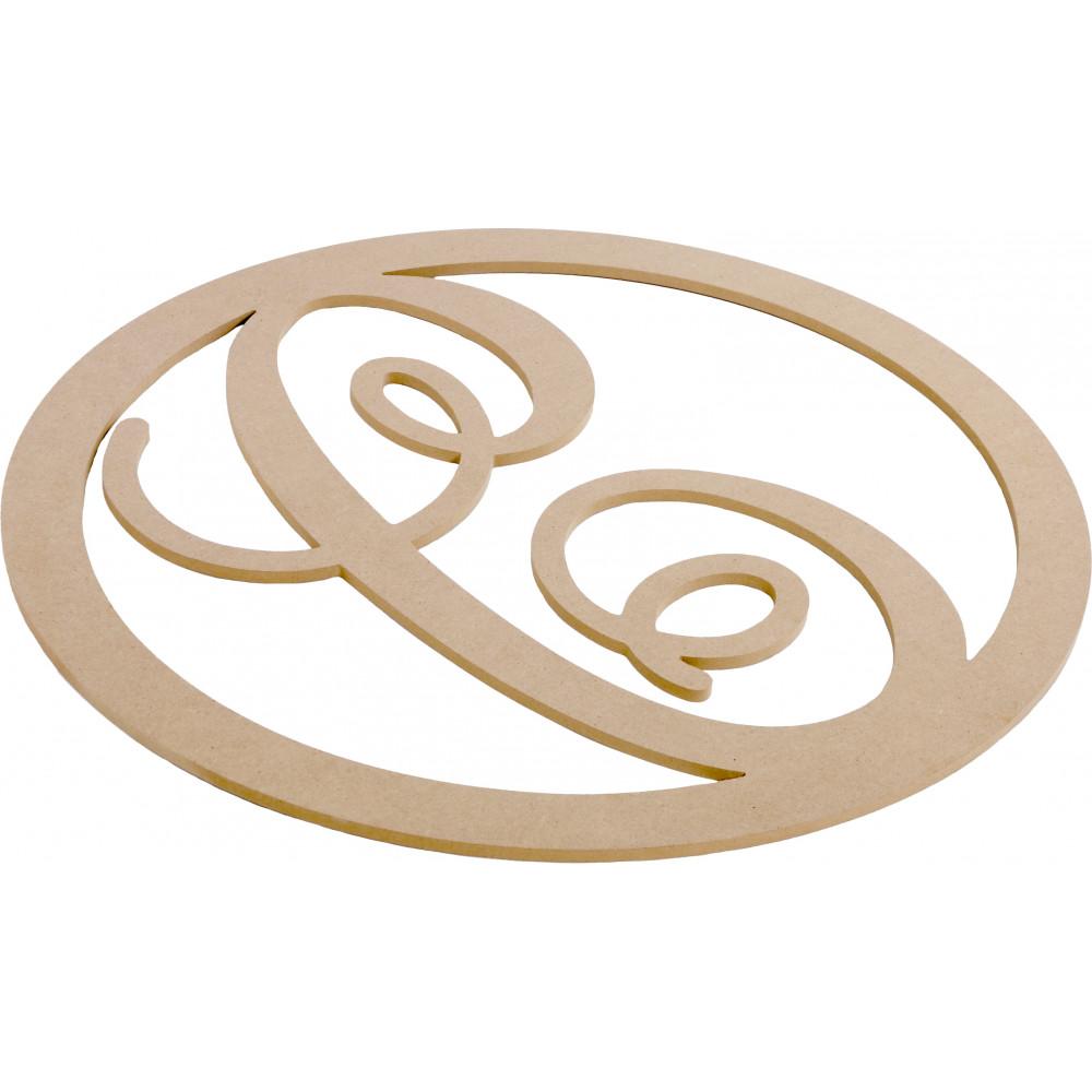 23 Script Circle Monogram Wooden Letter C Ab2236 Craftoutlet