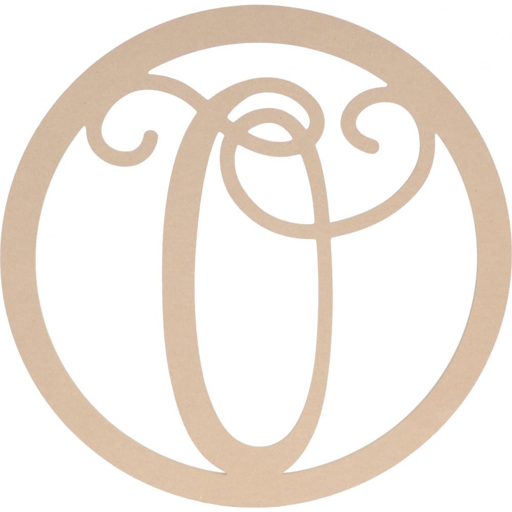 23quot script circle monogram wooden letter o ab2248 for Letter o monogram