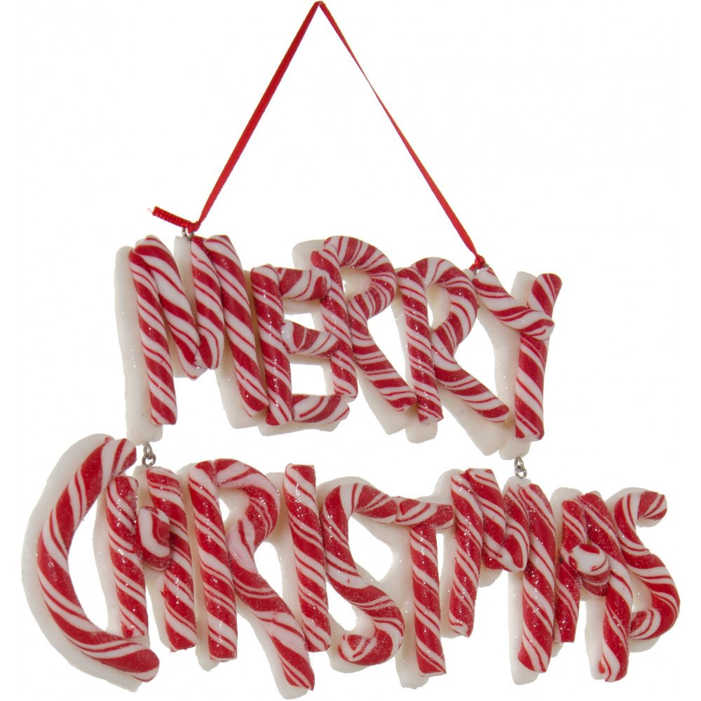 85 peppermint striped merry christmas ornament sign - Peppermint Candy Christmas Ornaments