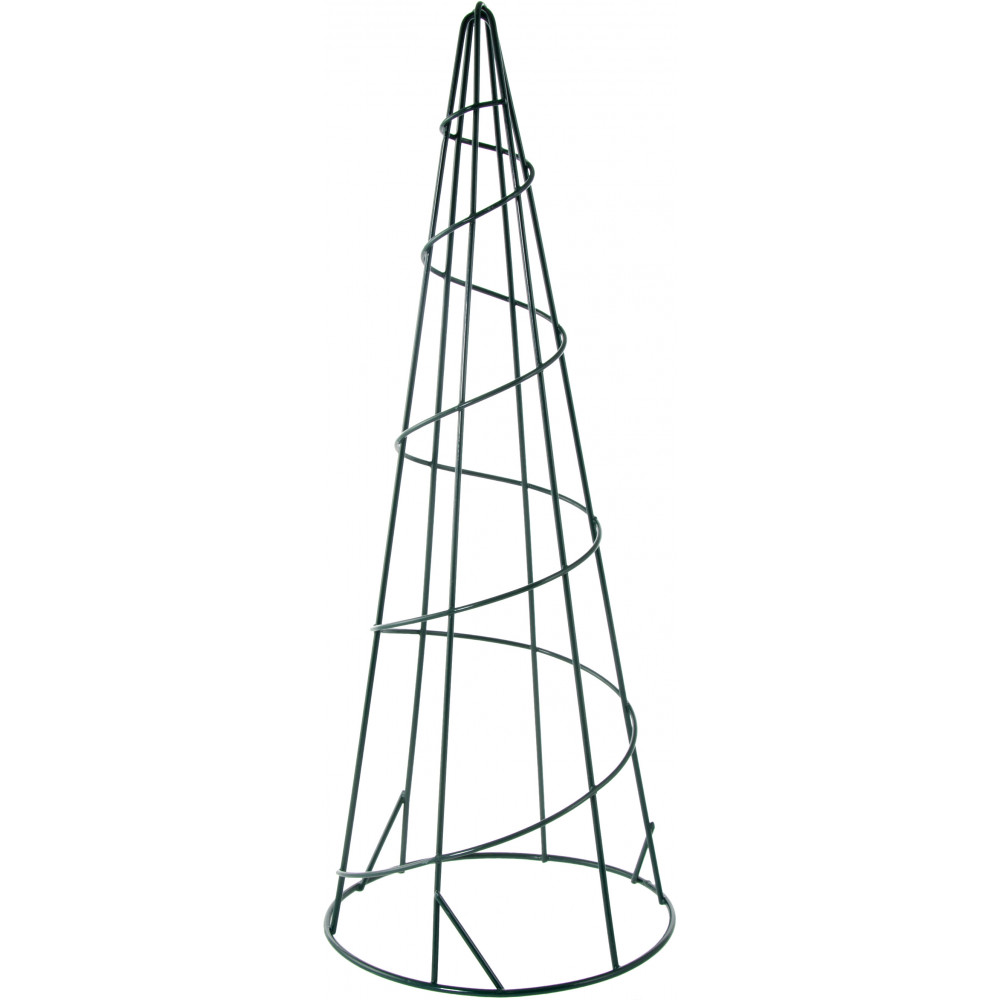"15"" Metal Wire Cone Form: Green 171860 - CraftOutlet.com"