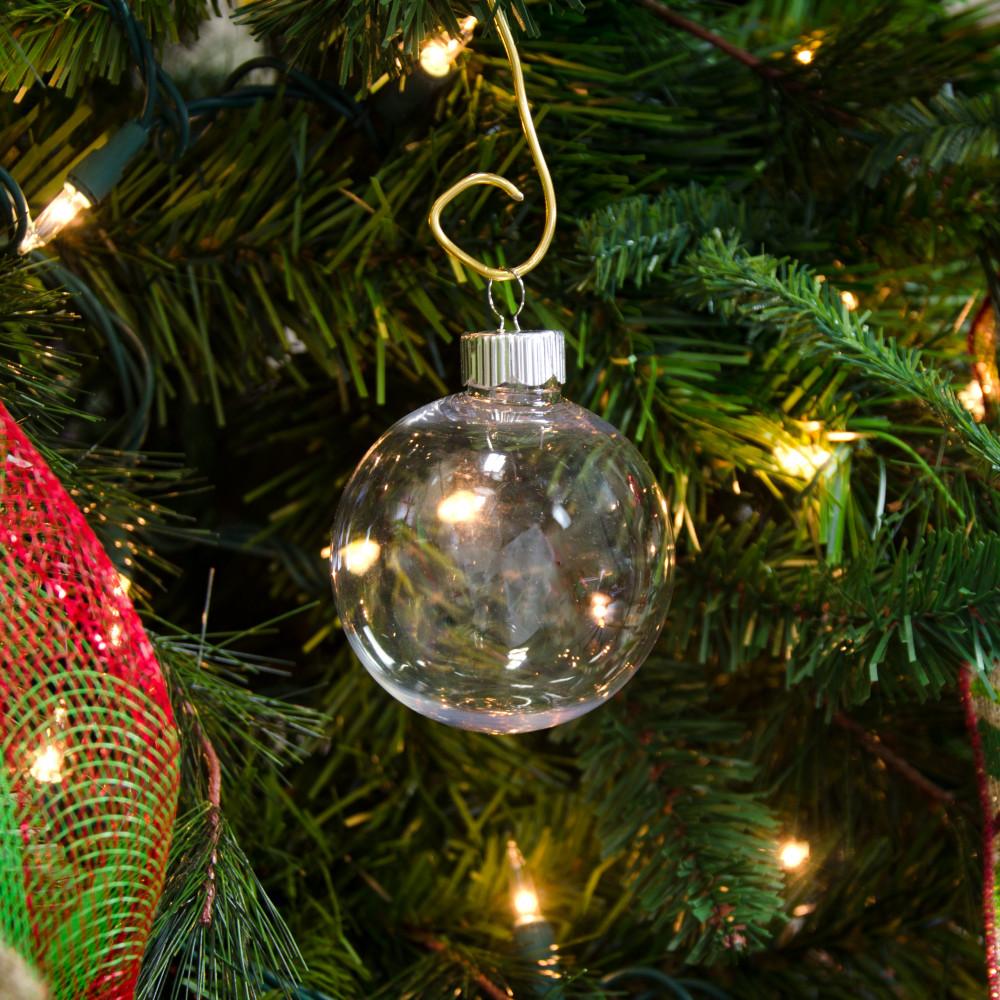 Plastic ornament - 67mm Clear Plastic Ball Ornament
