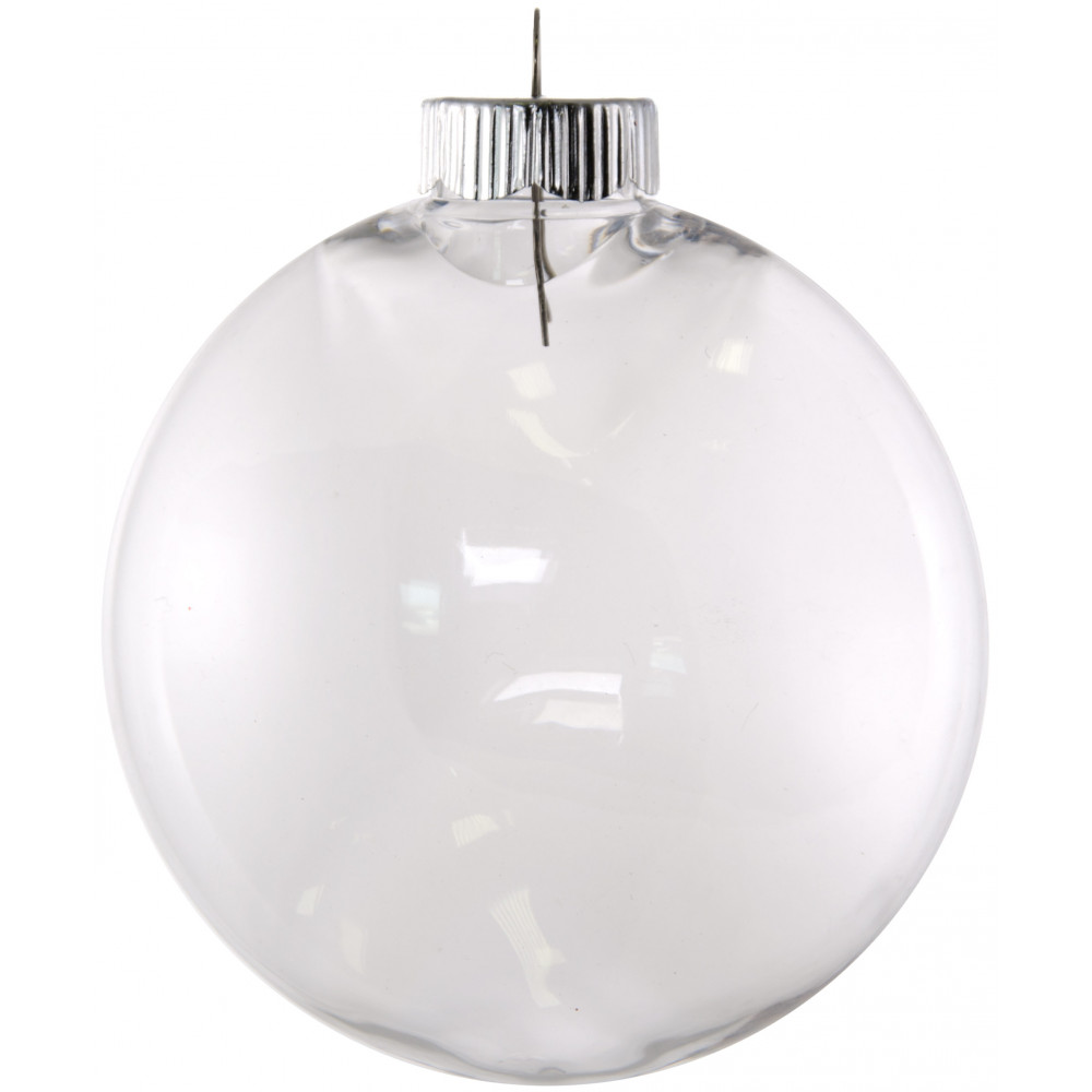 Clear fillable plastic ornaments - Clear Oval Ball Plastic Ornament 100mm