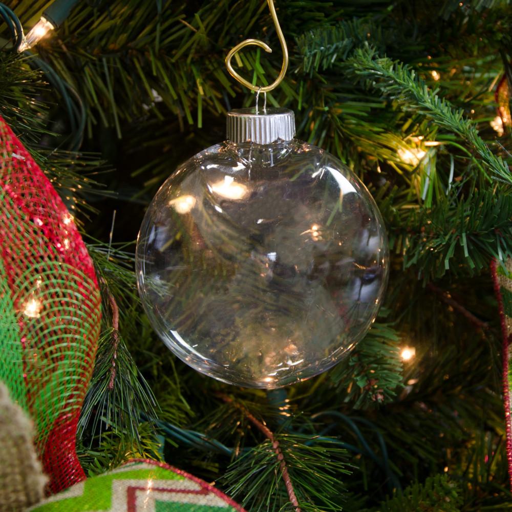 Plastic ornament - Clear Oval Ball Plastic Ornament 100mm