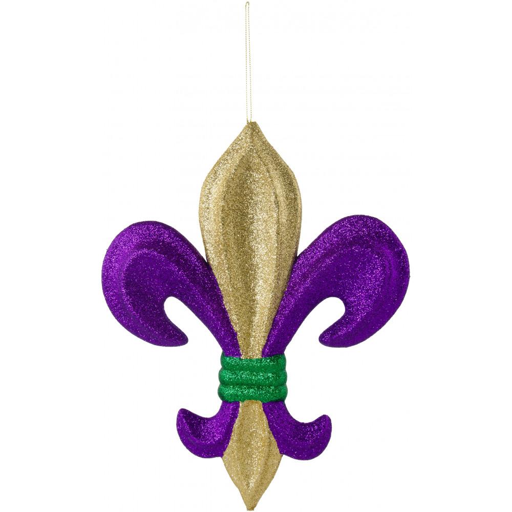 13 Quot Metallic Glitter Fleur De Lis Decoration Mardi Gras