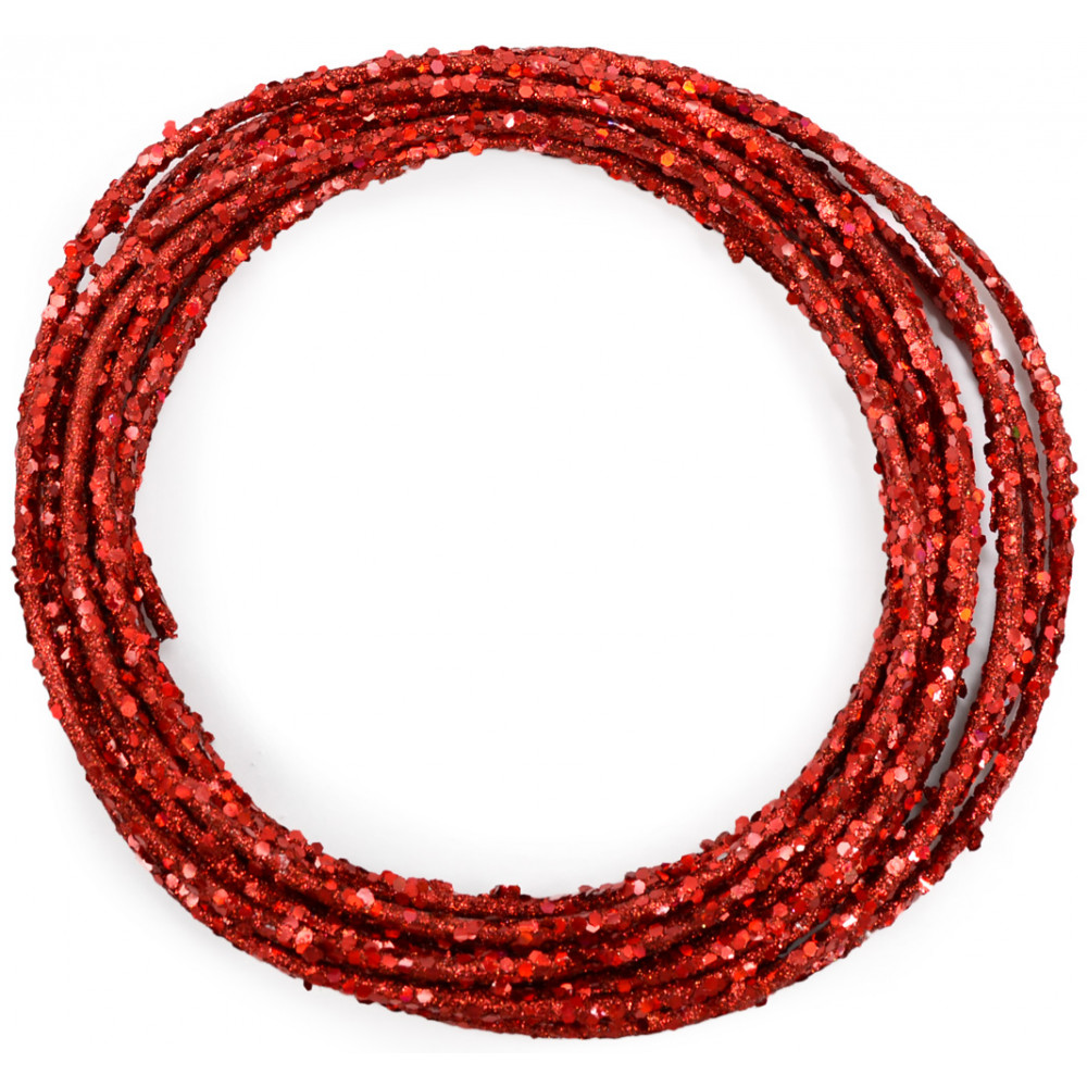Wired Glamour Rope: Red (25 Feet) [RS500324] - CraftOutlet.com
