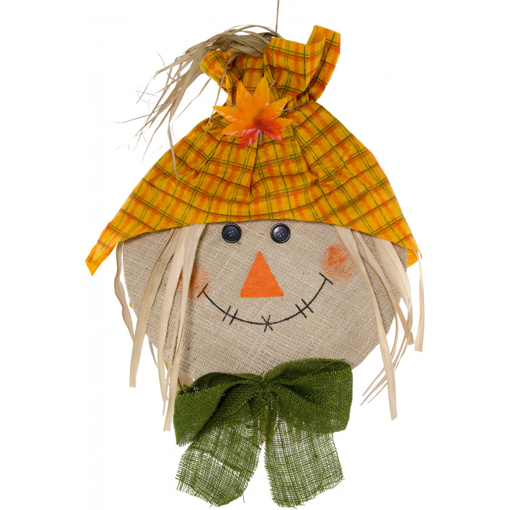 "28"" Scarecrow Head Decoration: Gold [9725858 ..."