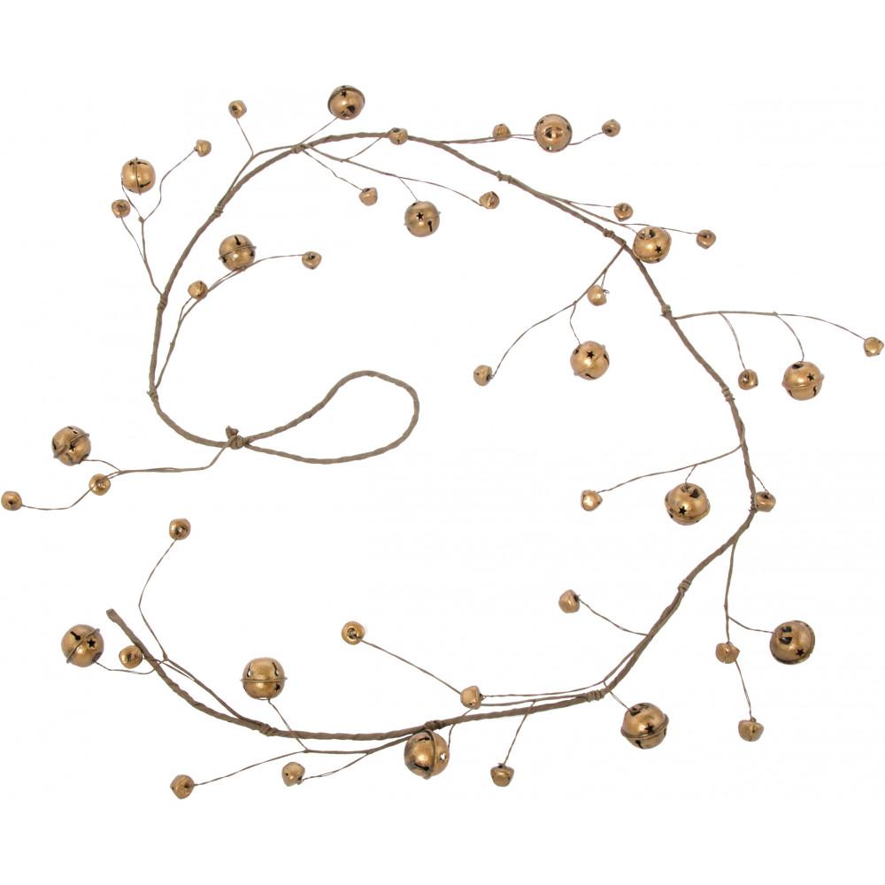 Jingle Bell Garland 60 Wire Jingle Bell Garland Antique Gold Xg857431