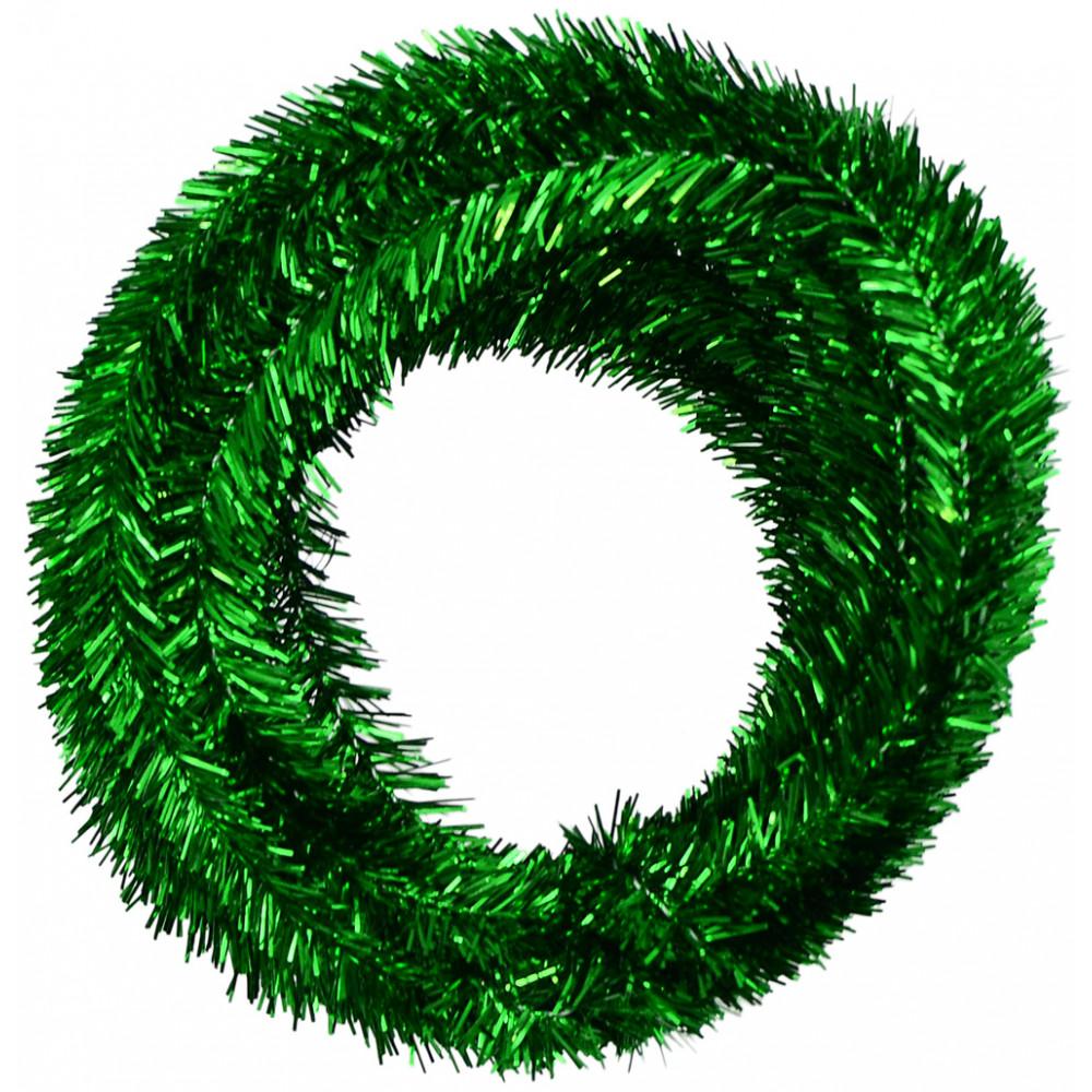 Metallic tinsel roping emerald green feet xg