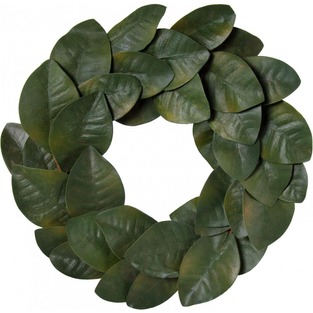 20 magnolia leaf wreath green 36 leaves fg517609 craftoutlet com