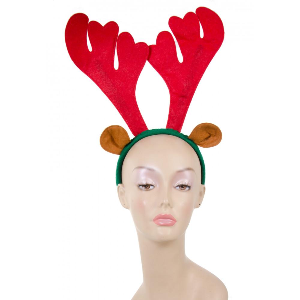 Christmas reindeer antlers headband 26690rgaj for Reindeer antlers headband craft