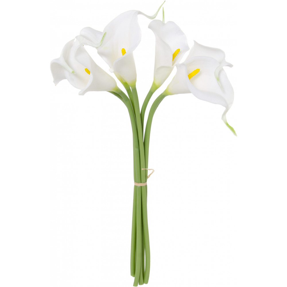 12 calla lily flower bunch x7 white 2242036wh craftoutlet 12 calla lily flower bunch x7 white izmirmasajfo Image collections