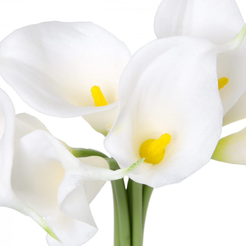 12 calla lily flower bunch x7 white 2242036wh craftoutlet 12 calla lily flower bunch x7 white izmirmasajfo