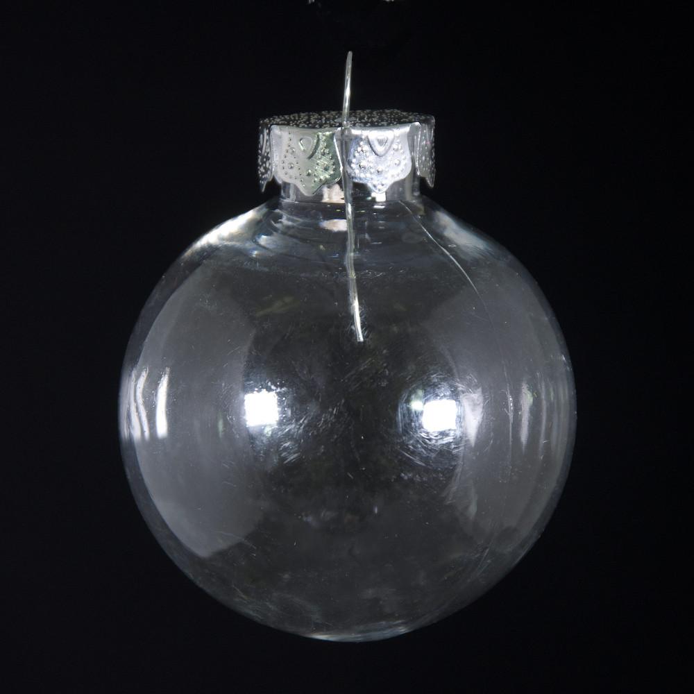 Plastic ornament - 60mm Budget Clear Plastic Ornaments Box Of 6