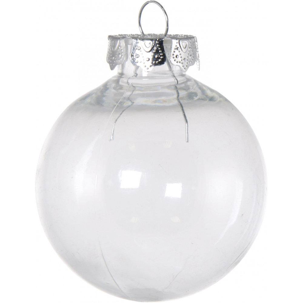 Clear fillable plastic ornaments - 80mm Budget Clear Plastic Ornaments Box Of 4