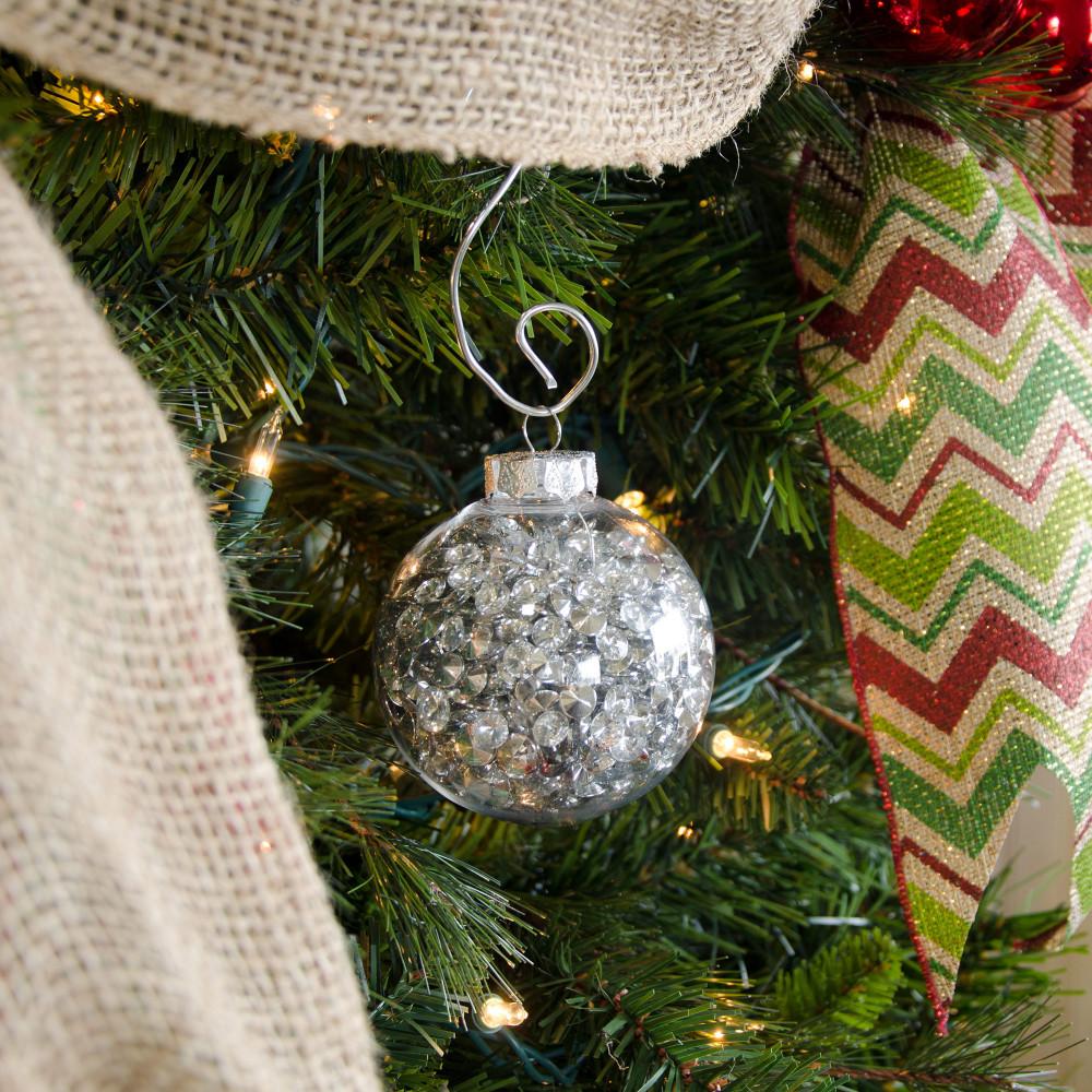 Clear plastic ornaments - 80mm Budget Clear Plastic Ornaments Box Of 4