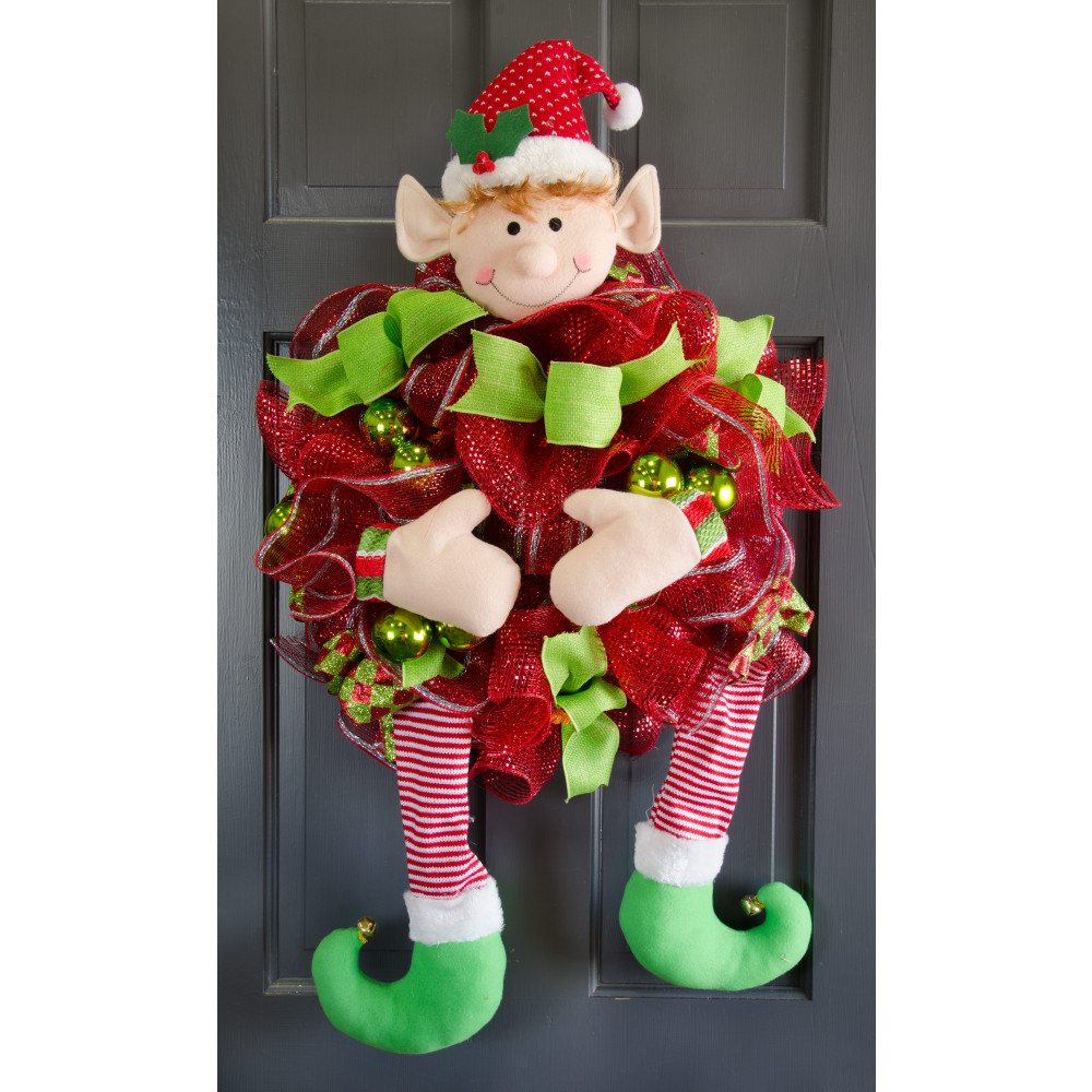 plush elf wreath kit 5 pieces