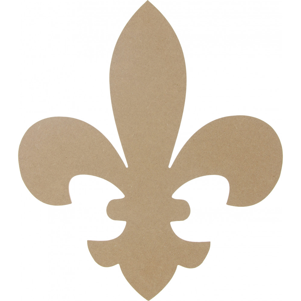 16 wooden fleur de lis decoration natural ab2231 craftoutlet com