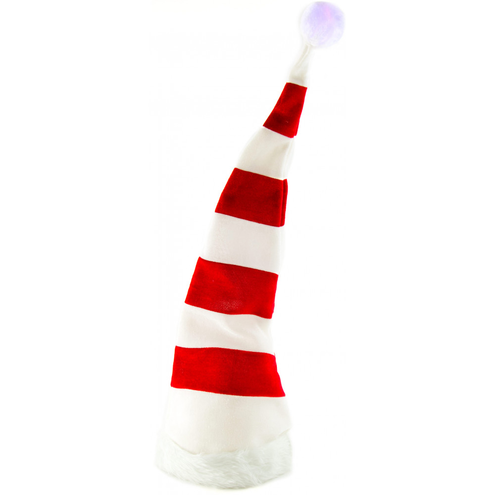 Light-Up Red   White Striped Tall Elf Hat  25494MCAO  - CraftOutlet.com bea91b162947