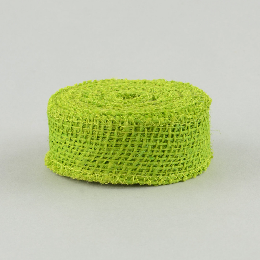 1 5 burlap ribbon apple green 10 yards jrh015 60 for Green burlap ribbon