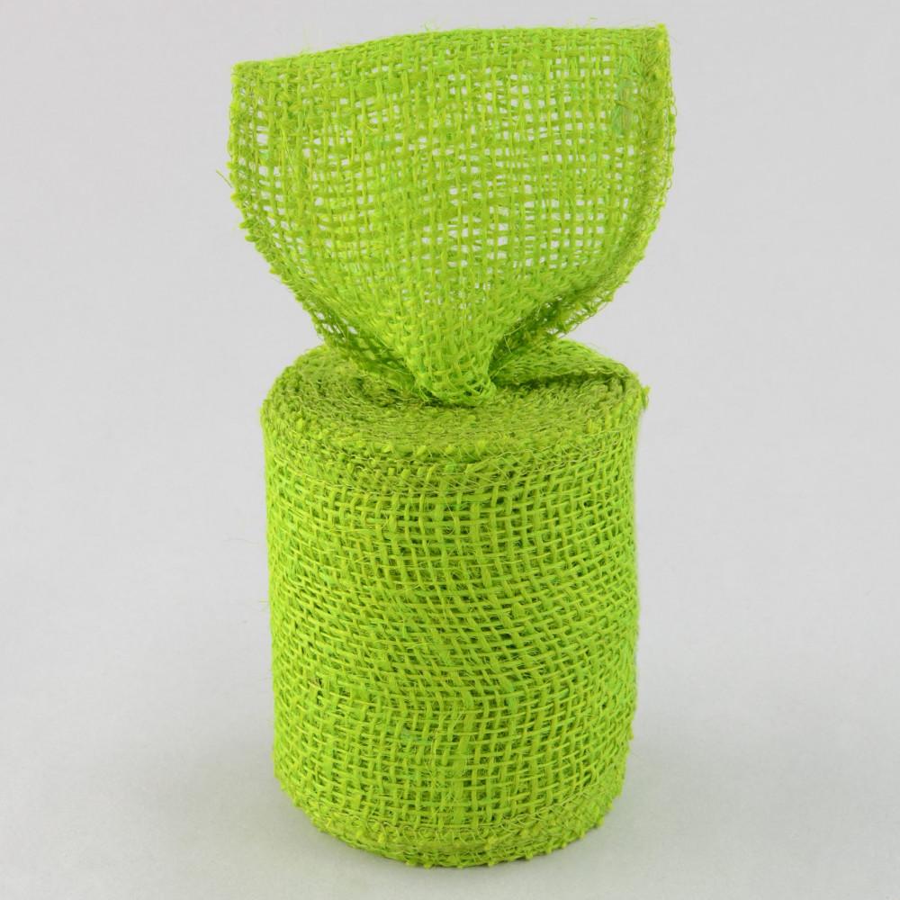4 burlap ribbon apple green 10 yards jrh04 60 for Green burlap ribbon