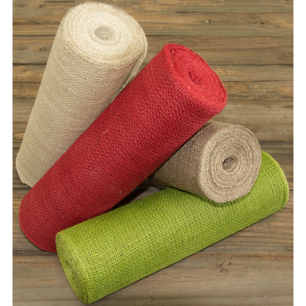 14 Quot Burlap Fabric Roll Red 10 Yards Jrh14 11