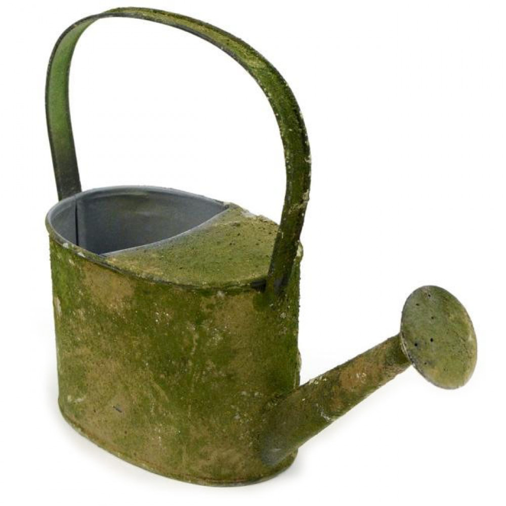 9 Decorative Mossy Tin Watering Can Kq868236