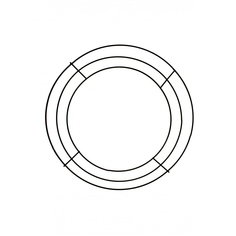 10 Inch Wire Wreath Form 3 Wire Black Md005202