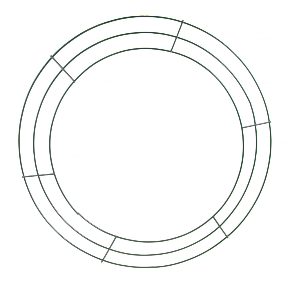 16-inch wire wreath form  3-wire green  md005509