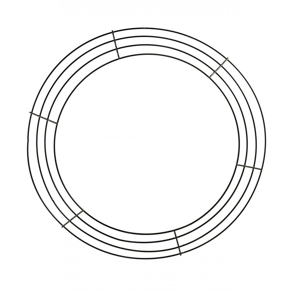 14-inch wire wreath form  4-wire black  md008102