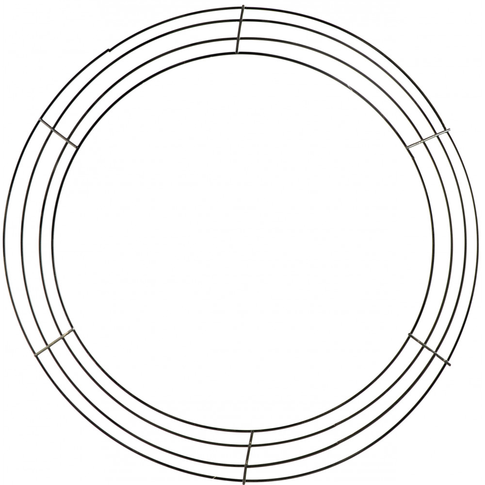 18-inch wire wreath form  4-wire black  md008302