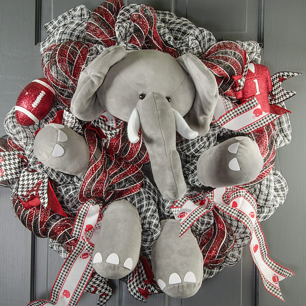 Plush Elephant Wreath Accent [MD0214] - CraftOutlet.com