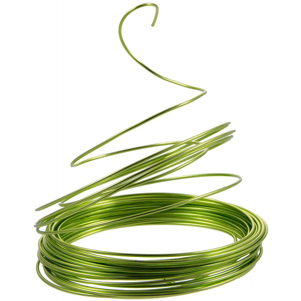 Aluminum Craft Wire 2MM: Lime Green (13 Yards) [MT1031D3 ...