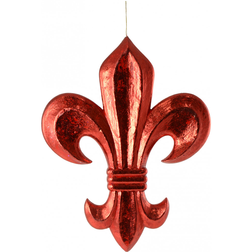 20 fleur de lis decoration red leaf mz181324. Black Bedroom Furniture Sets. Home Design Ideas