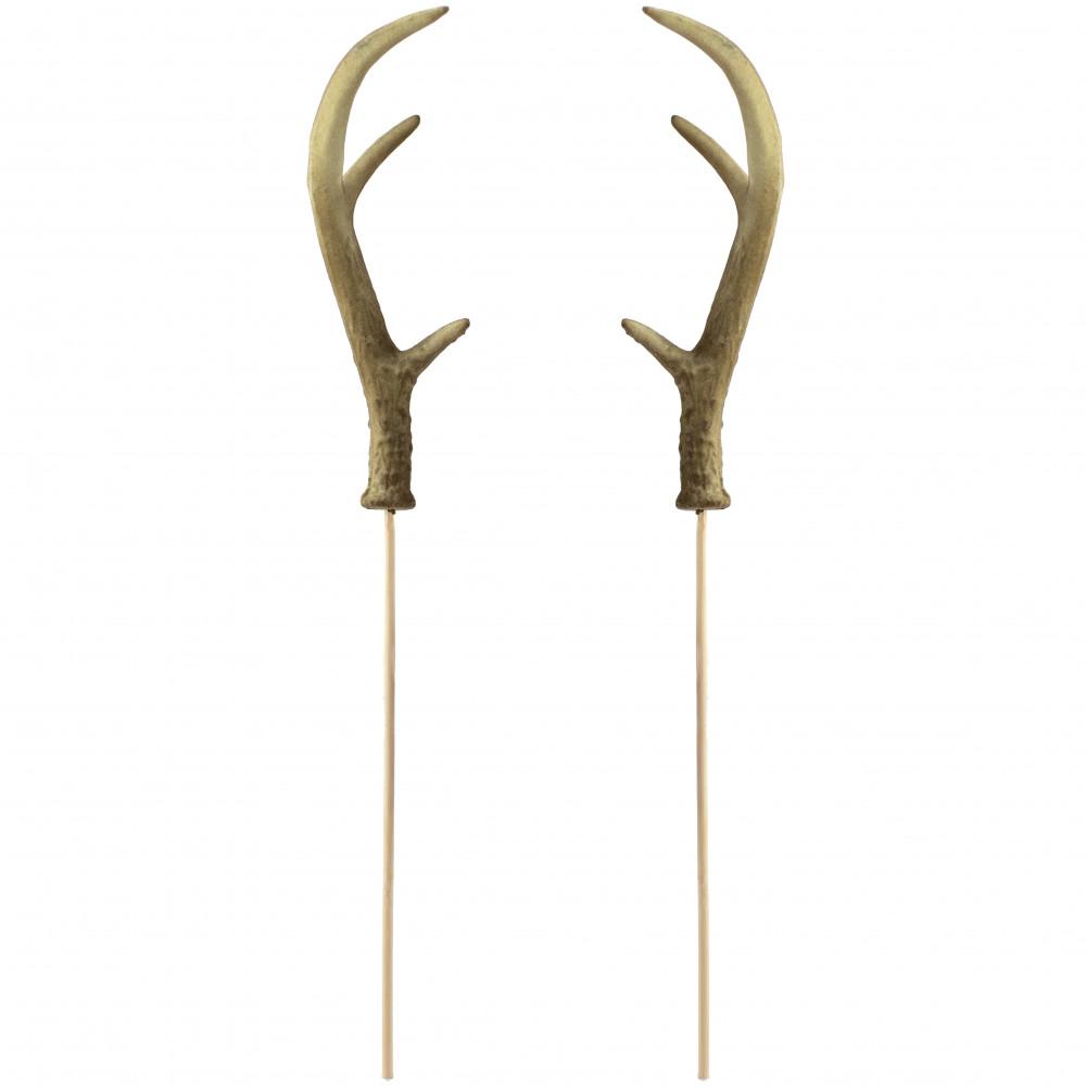 9 deer antlers on stick set of 2 mz2108 craftoutlet com