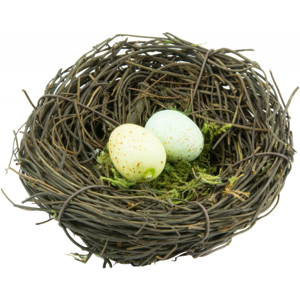 4\u0026quot; Angel Vine Bird Nest With Eggs [NB211]  CraftOutlet.com