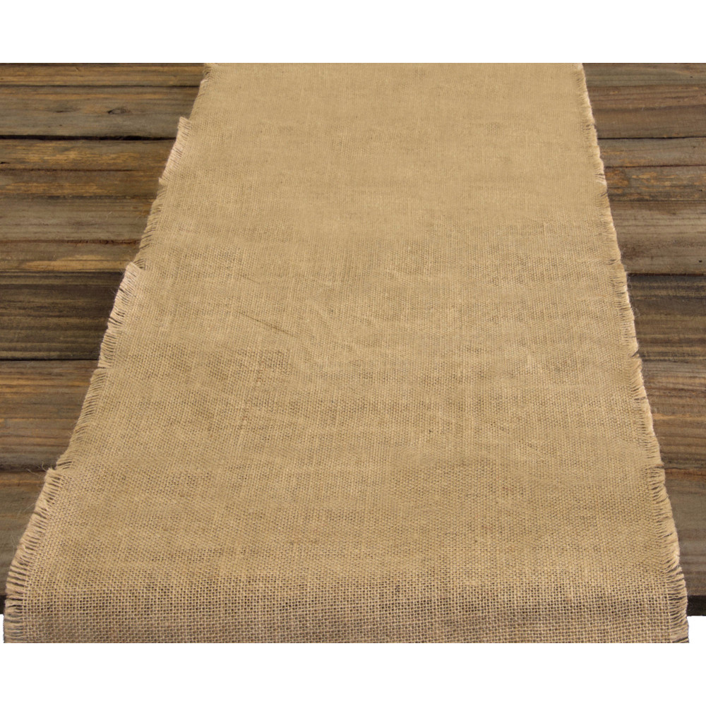 "72"" Burlap Table Runner With Fringed Edge [NJF-R12 ..."