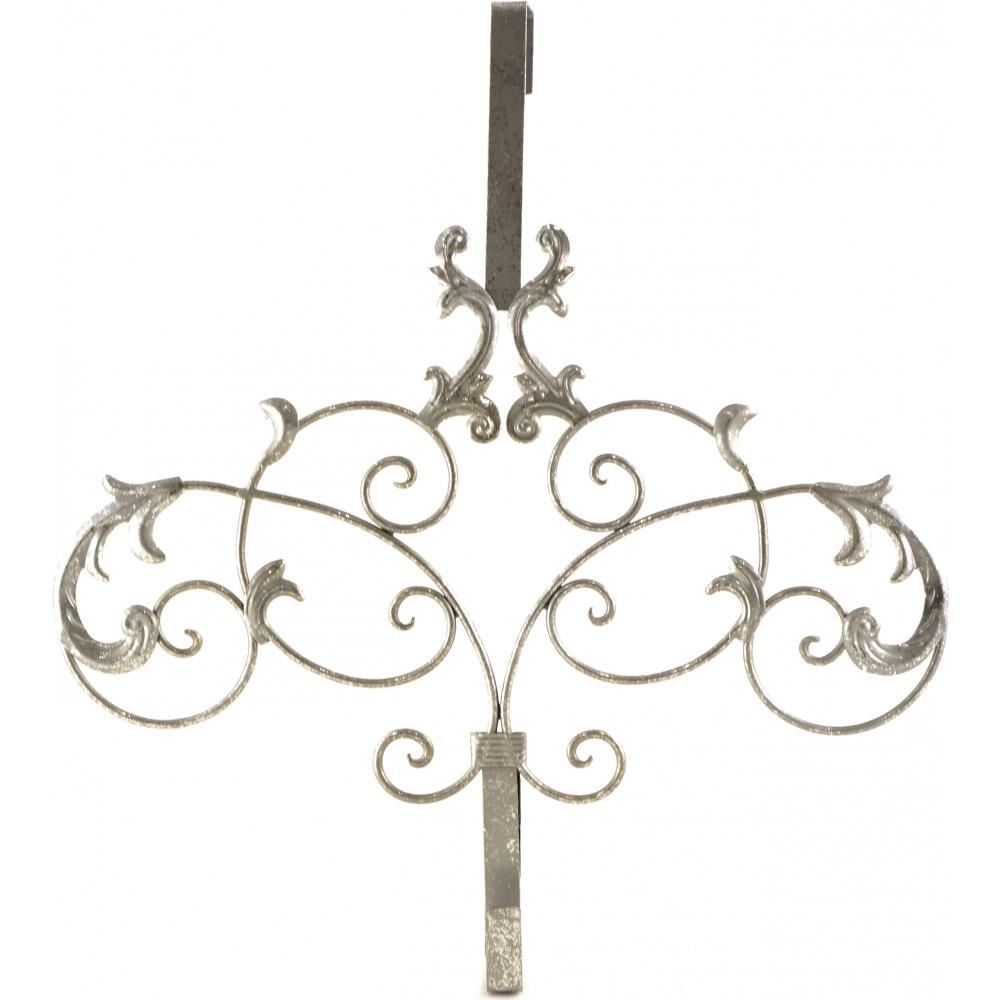 Silver Scroll Wreath Hanger