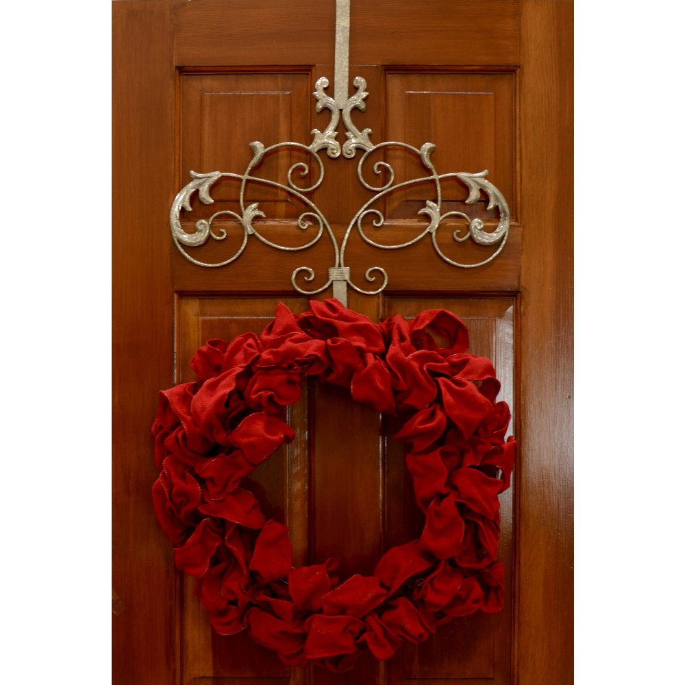 2ct attract magnetic wreath hanger silver