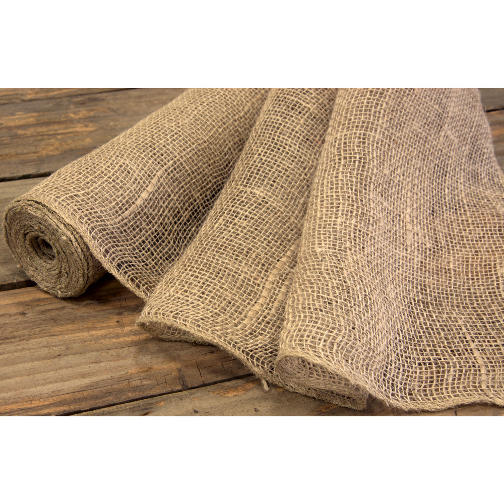 18 Quot Loose Weave Burlap Fabric Roll 10 Yards Ra137218