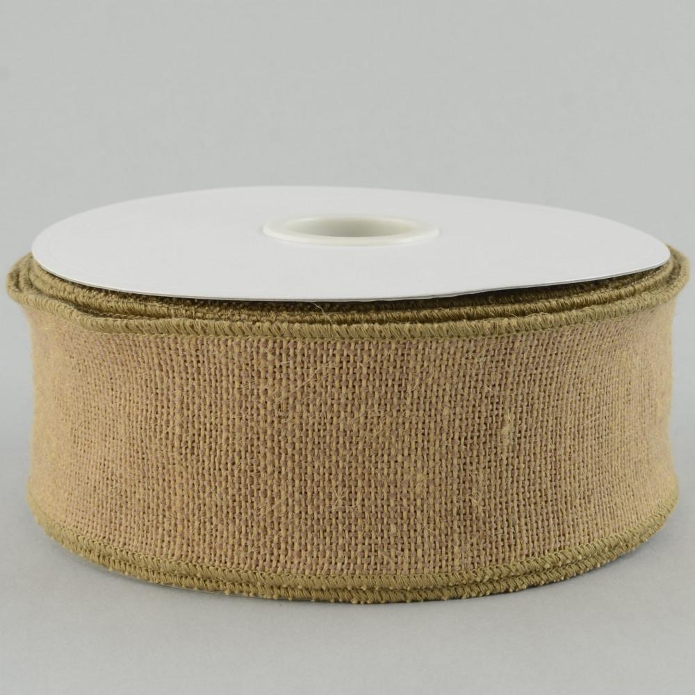 2 5 blended burlap ribbon natural 25 yards ra211918 for How to use burlap ribbon
