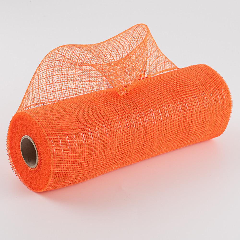 10 Poly Deco Mesh Metallic Orange Re130120 Craftoutlet Com
