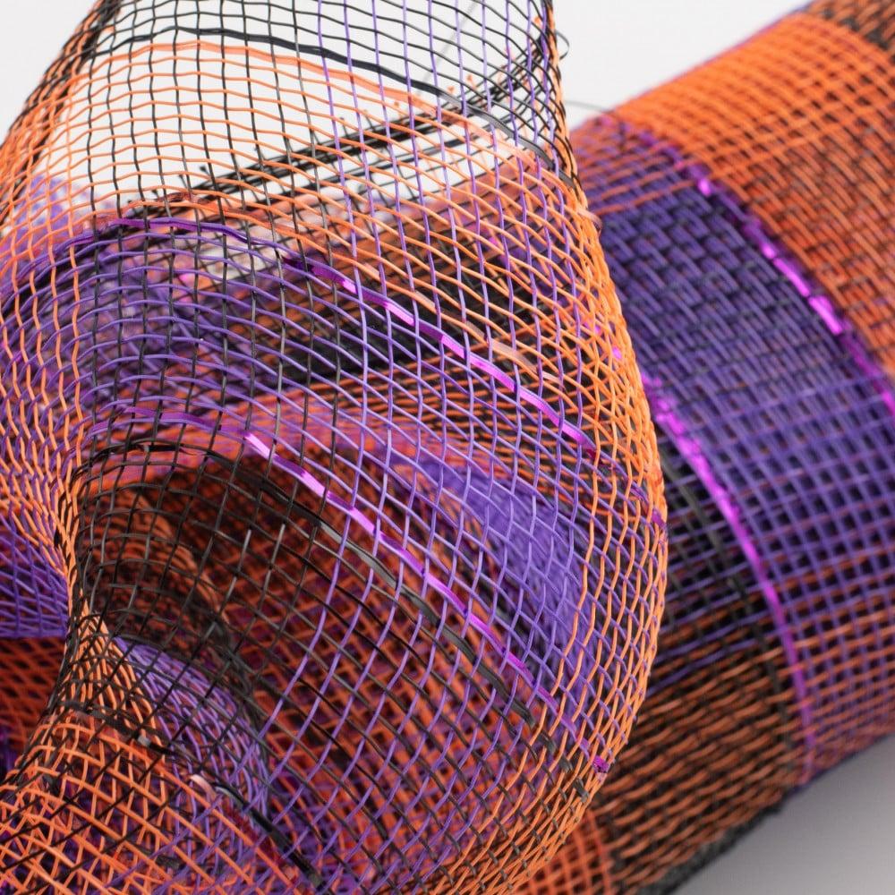 "Bundle of  3 Purple  6"" X 5yd Rolls Deco Mesh Decorative Wreath NEW Halloween"