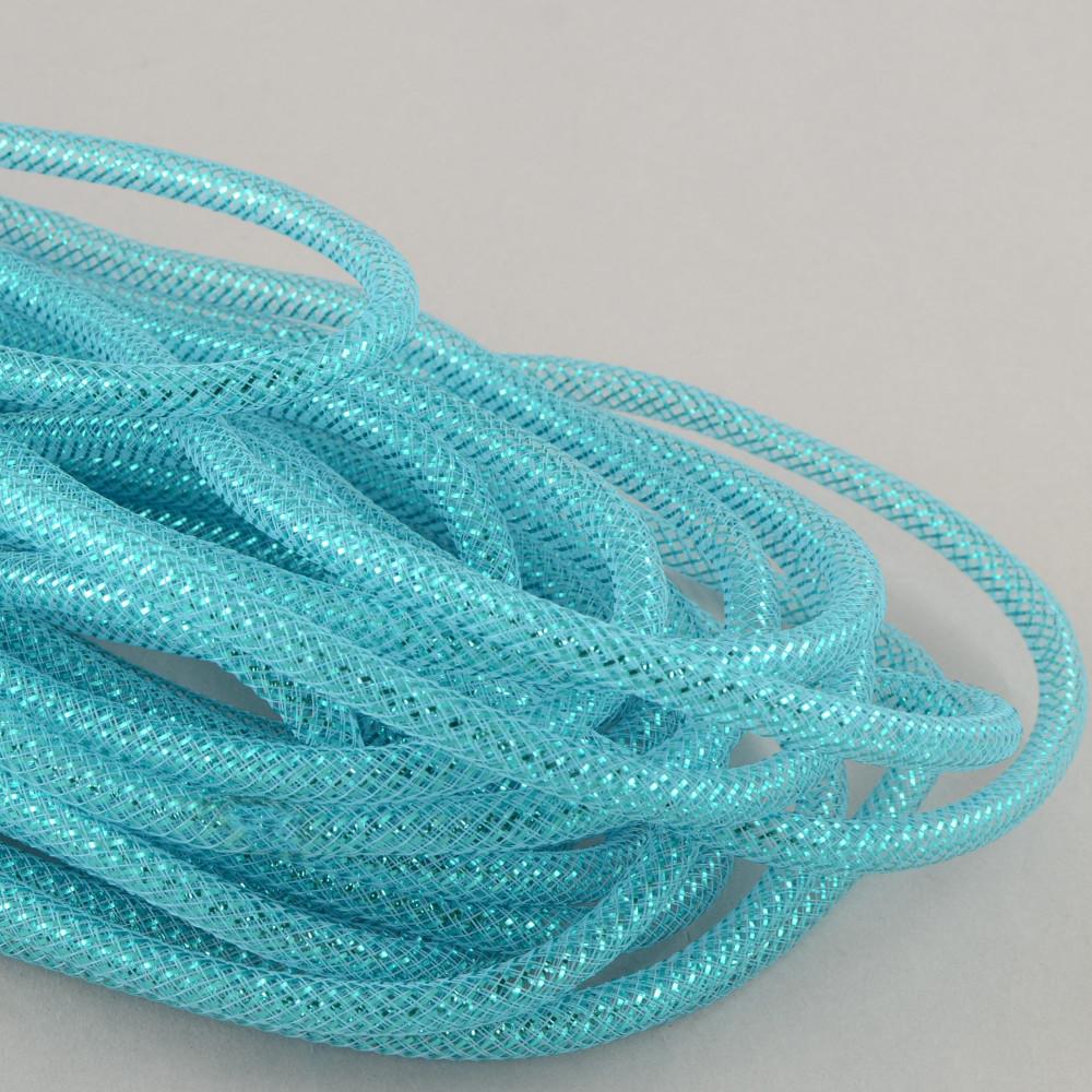 deco flex tubing ribbon metallic turquoise 30 yards re300480. Black Bedroom Furniture Sets. Home Design Ideas