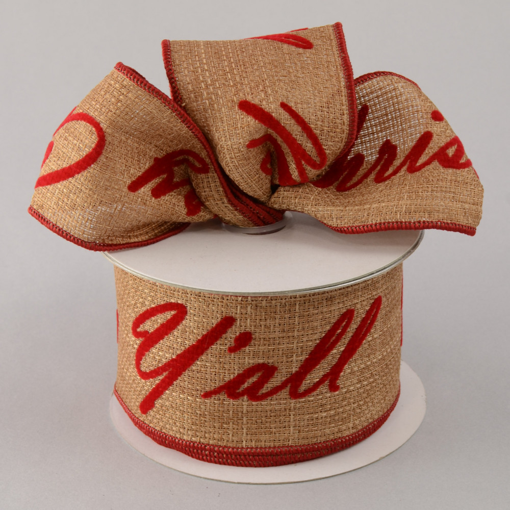 25 merry christmas yall faux burlap ribbon 10 yards